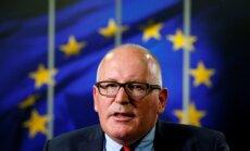 Timmermanss: Vācija un Francija uzņemsies vadību ES integrācijā pēc 'Brexit'