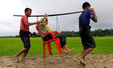 Mjanma mīnē robežu, pār kuru rohindžu musulmaņi bēg no valsts