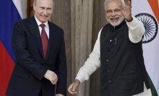 Maskavas 'draugu klubs': Indija apsver pievienošanos Eirāzijas savienības tirdzniecības zonai