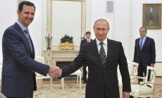 Asads devies pirmajā ārvalstu vizītē kopš konflikta sākuma - Maskavā ticies ar Putinu