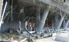 Foto: Kā izskatās sašautā 'Donbass Arena'