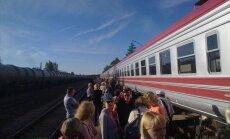 Не доехал. По дороге из Даугавпилса в Ригу сломался модернизированный поезд