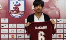 'Jelgavas' futbola komanda pagarinājusi līgumu ar japāni Nakano