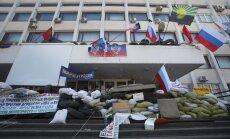 Atbrīvota separātistu ieņemtā Mariupoles dome