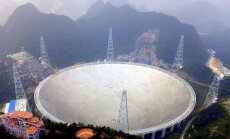 Ķīnā darbu sāk lielākais radioteleskops pasaulē