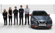 Jaunā 'Nissan Micra' – pēc individuāliem mērījumiem izgatavots hečbeks