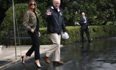 Ļaužu nievas izpelnās Melānijas Trampas smalkie apavi