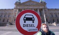 Vācijas tiesa atzīst pilsētu tiesības aizliegt dīzeļdzinējus