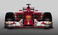 Foto: 'Ferrari' izrāda jaunās sezonas formulu