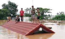 Sagrūstot HES dambim, Laosā pazuduši simtiem cilvēku; vismaz divdesmit gājuši bojā