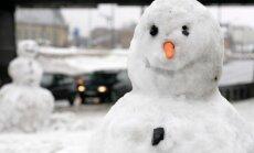 Līdz piektdienai visā valstī var nokust sniegs
