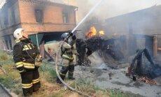 Rostovā pie Donas deg desmitiem māju; izsludināta ārkārtas situācija