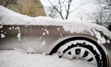 Утром в понедельник в Латгалии было до 16 сантиметров снега