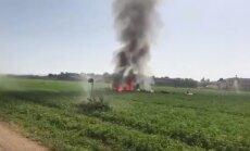 Spānijā atpakaļceļā no parādes avarē 'Eurofighter'; pilots miris