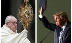 Tramps nav kristietis, uzskata pāvests