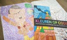 Foto: Nīderlandē sašutumu rada krāsojamā grāmata ar Hitlera attēlu