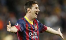 'Barcelona' pārliecinoši uzvar, Mesi iesit 400. vārtus karjerā