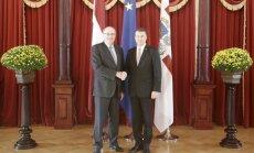 Vējonis: Latvija vēlas lielāku ES atbalstu piena nozarei