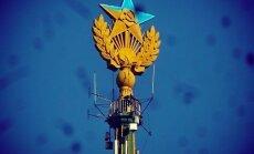 Maskavā 'Staļina debesskrāpja' smailē paceļ Ukrainas karogu