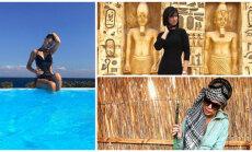 Krāšņi foto: Samanta Tīna atpūšas Ēģiptē