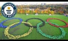 Video: Jauns Ginesa rekords - 'dzīvie' olimpiskie apļi Hamburgā