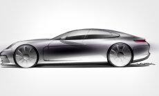 'Porsche' daļēji atklājis jauno 'Panamera' modeli