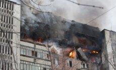 Krievijā daudzdzīvokļu namā sprāgst gāzes balons