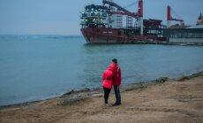 Krimas okupācija: uzsākta tilta būvniecība pār Kerčas šaurumu, paziņo Krievija