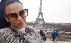 Foto: Samanta Tīna izbauda brīvdienas Parīzē