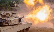 Foto: Ar tanku dārdiem sākas 'Saber Strike 2016' mācības Latvijā
