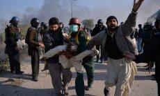 Pakistānā sadursmēs starp drošības spēkiem un reliģiskiem protestētājiem seši bojāgājušie