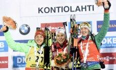 Laura Dahlmeier, Tiril Eckhoff, Darya Domracheva