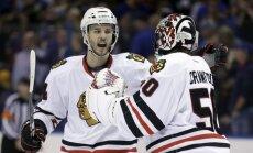Zviedrijas hokeja izlasei atsaka NHL aizsargs Halmarsons