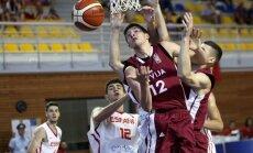 Latvijas U-20 basketbolisti piedzīvo sagrāvi EČ astotdaļfinālā