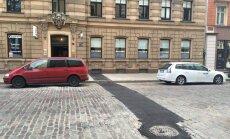 Асфальт поверх брусчатки - оригинальный ремонт дороги на улице Блауманя (+ комментарий РД)