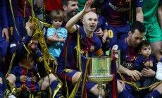 'Barcelona' futbolisti trīsdesmito reizi vēsturē triumfē Spānijas Karaļa kausa izcīņā
