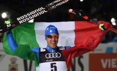 Distanču slēpotāji Pellegrīno un Falla triumfē pasaules čempionāta sprintā