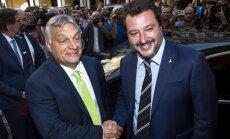 ES kritiķi Orbāns un Salvīni rod kopēju valodu