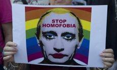 Krievijā aizliedz attēlu ar 'Putinu geju'