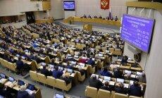 Krievijas parlamenta apakšpalāta atbalsta Putina ierosinātās izmaiņas pensiju reformā