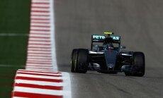 Rosbergs ātrākais F-1 ASV 'Grand Prix' izcīņas otrajā treniņbraucienu sesijā