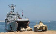 Augstākā kaujas gatavība izsludināta arī Krievijas Baltijas flotē un desanta karaspēkā