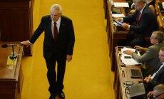 Jaunais Čehijas premjers prezidentam iesniedzis demisiju