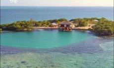 Atpūta no ārpasaules: brīvdienu mājiņa uz vientuļas salas Karību jūrā