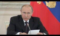 Putins atkal parādās publiski un brīdina, ka Krievijai grib laupīt uzvarētājas statusu