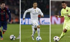 Lionel Messi, Cristiano Ronaldo, Neymar da Silva Santos