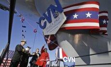 ASV iesvētīts moderns aviācijas bāzes 'superkuģis'