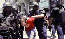 Madridē demonstranti apšaudīti ar gumijas lodēm