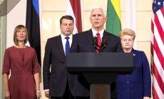 ASV vienmēr būs kopā ar Baltijas valstīm, uzsver Penss