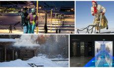 Dūmu pirts, haskiju pajūgs vai izbrauciens ar sniega moci. Kā atpūsties Igaunijā ziemā?